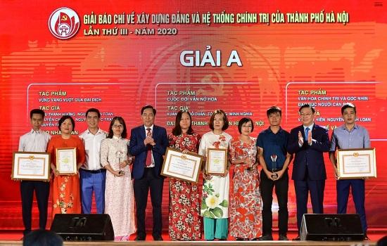 Hà Nội: Trao hai giải báo chí về xây dựng Đảng và phát triển văn hóa lần thứ III-2020