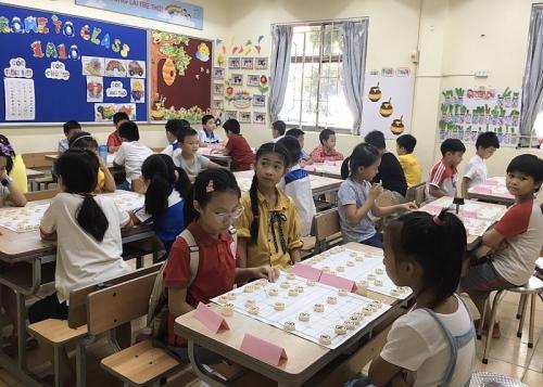 Gần 200 học sinh tham gia Giải cờ tướng, cờ vua quận Nam Từ Liêm