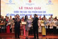 Trao giải Cuộc thi viết về công tác giảm nghèo lần III năm 2019