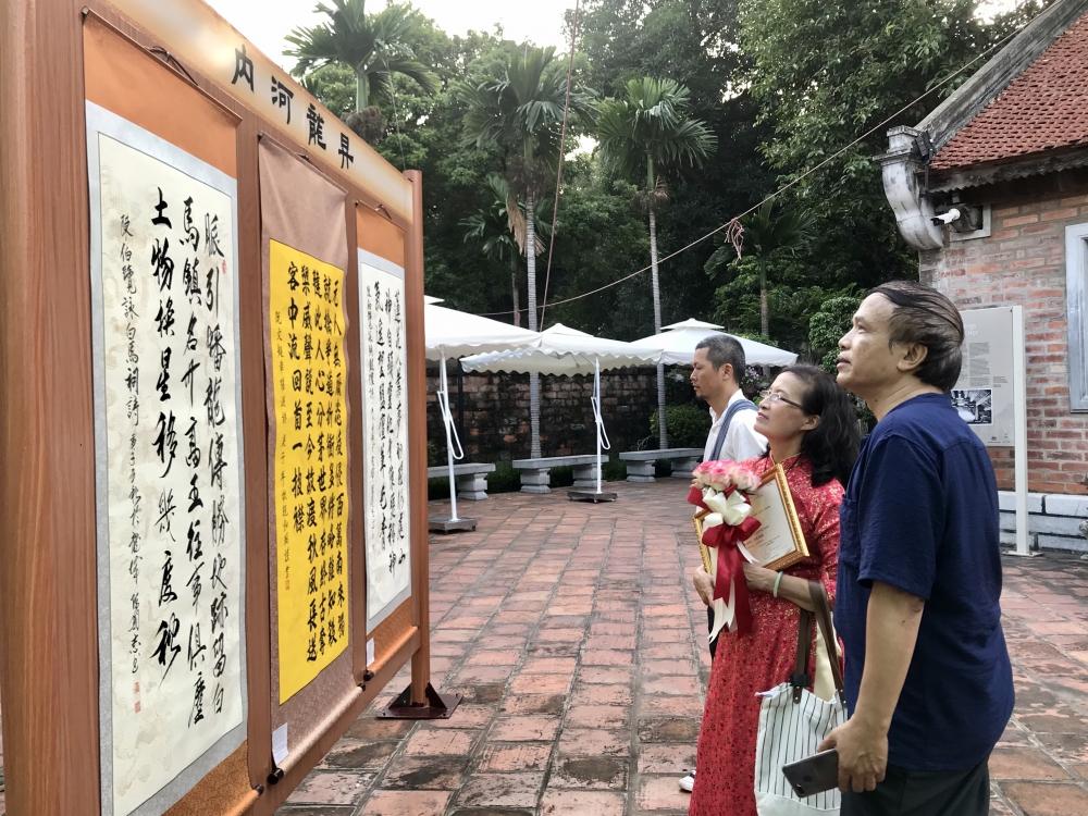"""Trưng bày hơn 100 tác phẩm thư pháp """"Thăng Long - Hà Nội"""""""