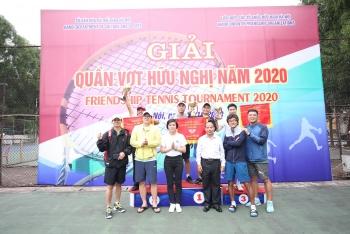 Hơn 100 tay vợt tham gia Giải Quần vợt hữu nghị năm 2020