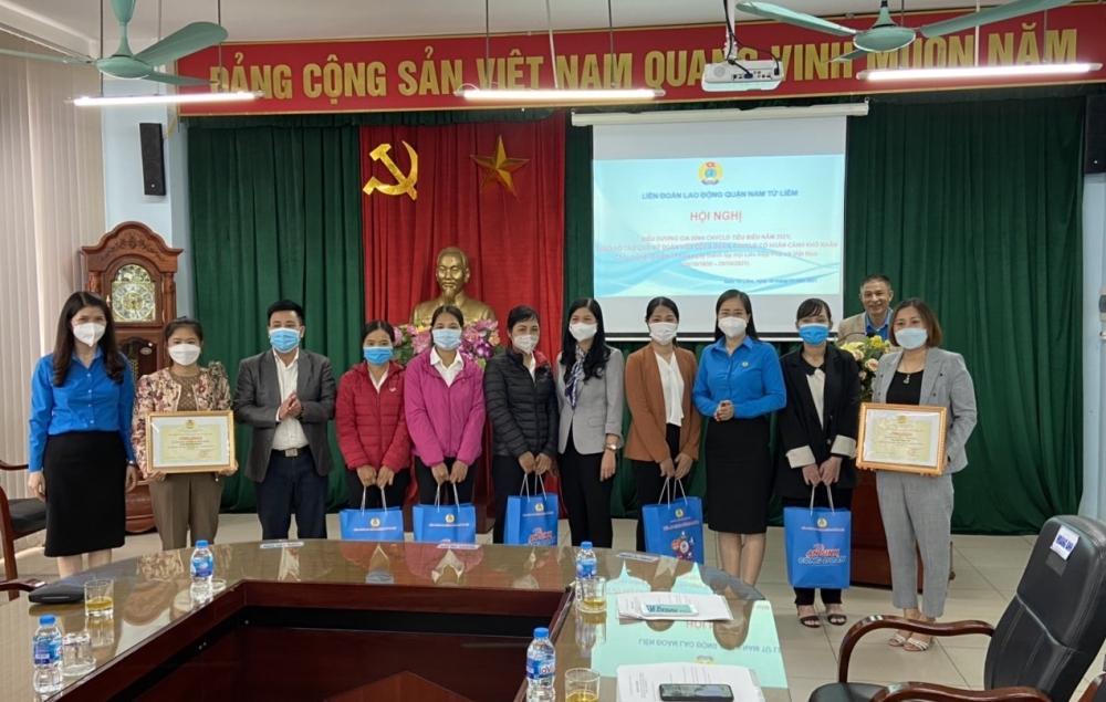 LĐLĐ quận Nam Từ Liêm đẩy mạnh xây dựng gia đình công nhân, viên chức, lao động tiêu biểu