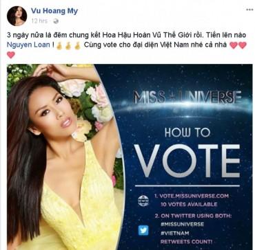 Dàn mỹ nhân Việt gửi lời chúc tới Á hậu Nguyễn Thị Loan