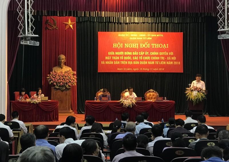 Quận Nam Từ Liêm tổ chức Hội nghị đối thoại giữa người đứng đầu cấp uỷ, chính quyền với nhân dân