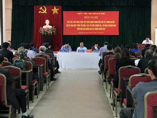 Quận Hai Bà Trưng tổ chức hội nghị đối thoaị trực tiếp với nhân dân