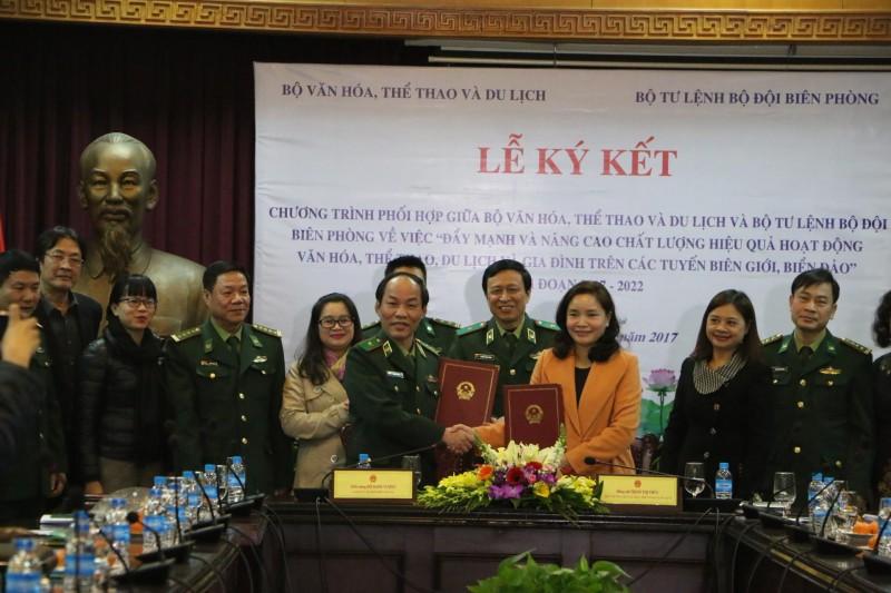 Bộ VHTT&DL ký kết nhiều hoạt động với Bộ Tư lệnh Bộ đội Biên phòng