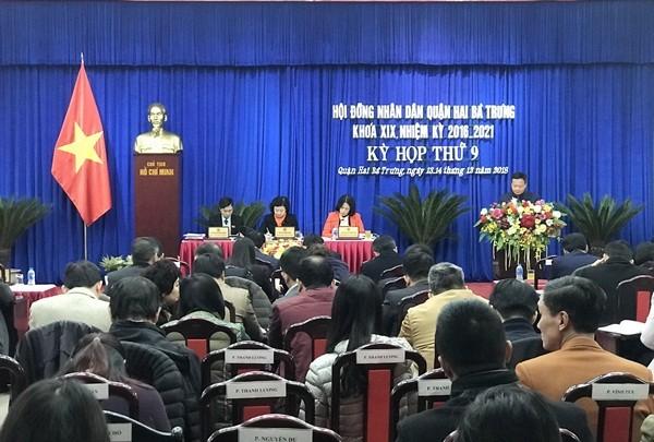 Quận Hai Bà Trưng tổ chức kỳ họp thứ 9 HĐND quận khoá XIX