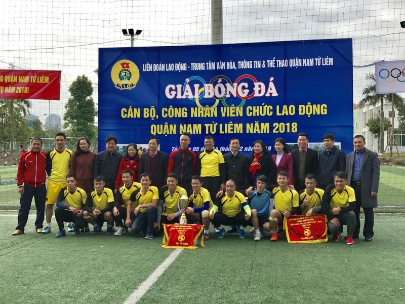Bế mạc Giải Bóng đá CNVCLĐ quận Nam Từ Liêm năm 2018
