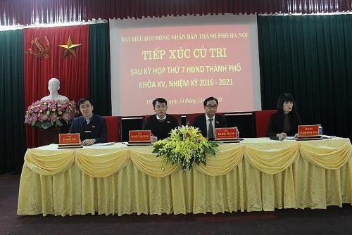 Đại biểu HĐND Thành phố tiếp xúc cử tri quận Nam Từ Liêm sau kỳ họp thứ 7
