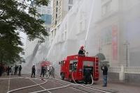 Quận Nam Từ Liêm tổ chức diễn tập phương án chữa cháy