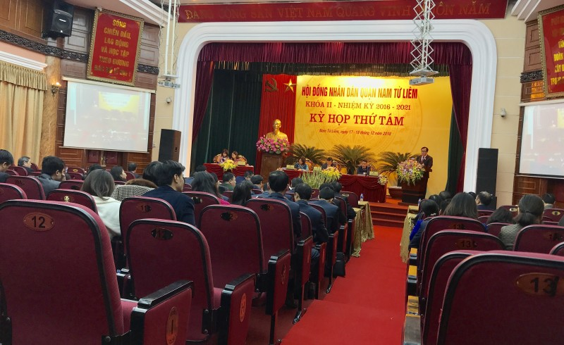 HĐND quận Nam Từ Liêm tổ chức kỳ họp thứ 8, nhiệm kỳ 2016-2021.