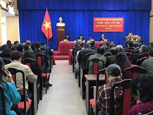 Đại biểu HĐND Thành phố tiếp xúc cử tri quận Hai Bà Trưng sau kỳ họp thứ 7