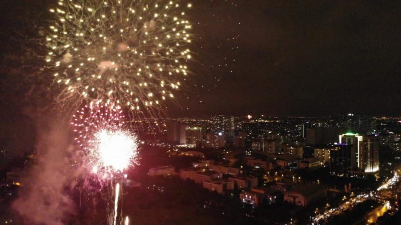 Pháo hoa đón chào năm mới