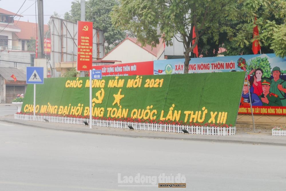 Sóc Sơn rực rỡ cờ, hoa chào mừng Đại hội lần thứ XIII của Đảng