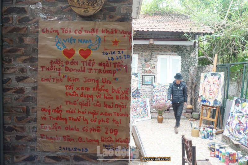 hoa si viet tac tuong ve tranh tong thong trump va chu tich kim jong un truoc hoi nghi thuong dinh