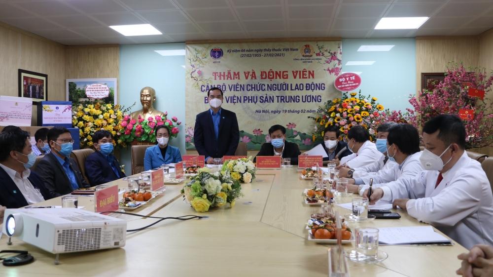 Thăm, chúc mừng Bệnh viện Phụ sản Trung ương nhân ngày Thầy thuốc Việt Nam