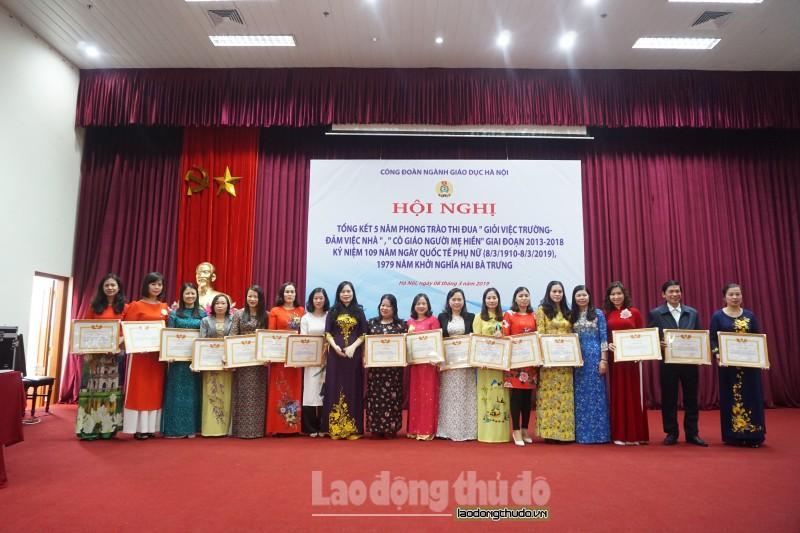 Công đoàn Giáo dục Hà Nội: Tôn vinh nữ nhà giáo 'Giỏi việc trường – Đảm việc nhà'