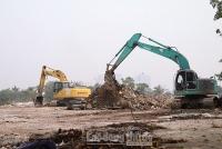 Cận cảnh khu vực giải phóng mặt bằng, thi công đường đua F1 đầu tiên ở Hà Nội