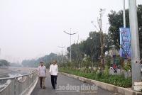 Toàn cảnh tuyến đường chỉ dành cho người đi bộ và xe đạp ở Hà Nội