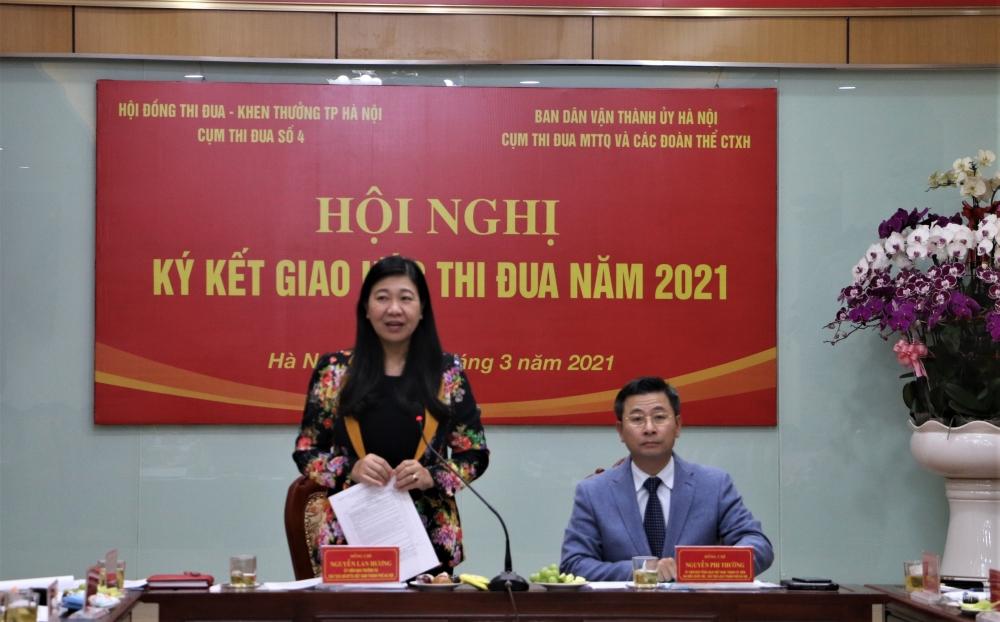 Cụm thi đua số 4 thành phố Hà Nội ký kết giao ước thi đua năm 2021