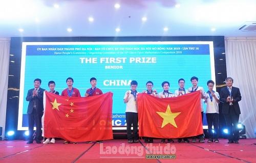 Bế mạc kỳ thi Toán học Hà Nội mở rộng năm 2019
