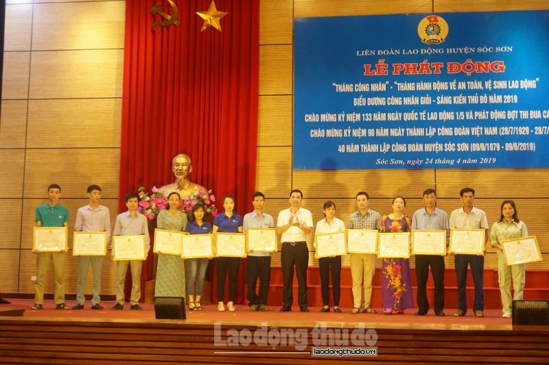 LĐLĐ huyện Sóc Sơn phát động Tháng Công nhân 2019