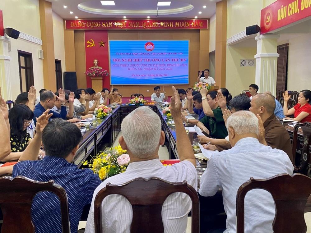 Huyện Sóc Sơn tổ chức hội nghị hiệp thương lần thứ ba
