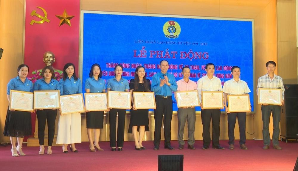 Liên đoàn Lao động huyện Sóc Sơn phát động Tháng Công nhân năm 2021