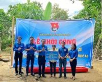 Tuổi trẻ Thủ đô khởi công xây dựng nhà nhân ái tặng hộ nghèo ở xã Nghi Xuân