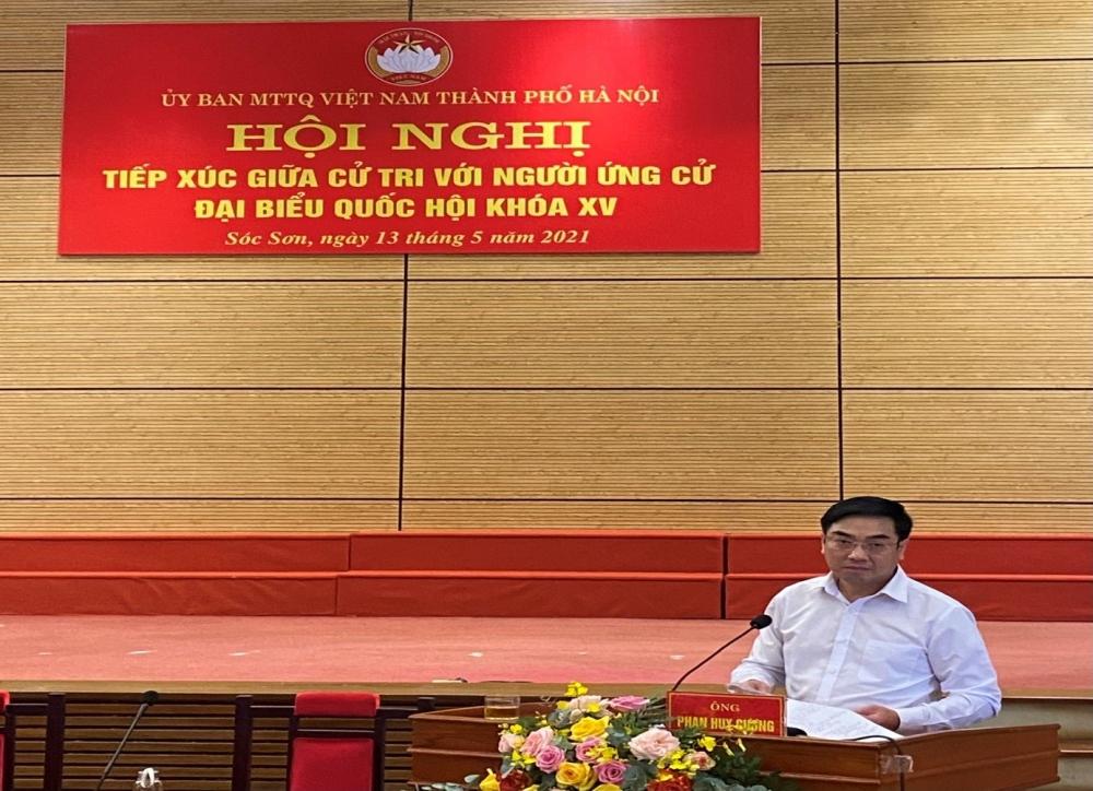 Ứng viên đại biểu Quốc hội khoá XV tiếp xúc cử tri huyện Sóc Sơn