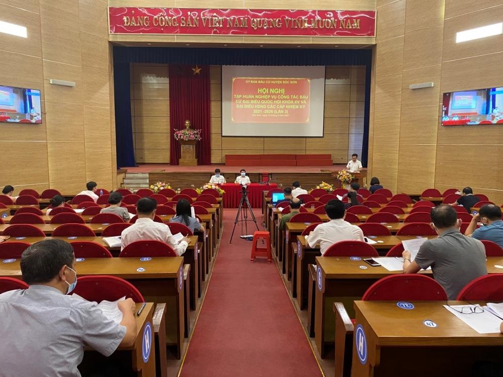 Huyện Sóc Sơn tập huấn nghiệp vụ chuẩn bị cho ngày bầu cử