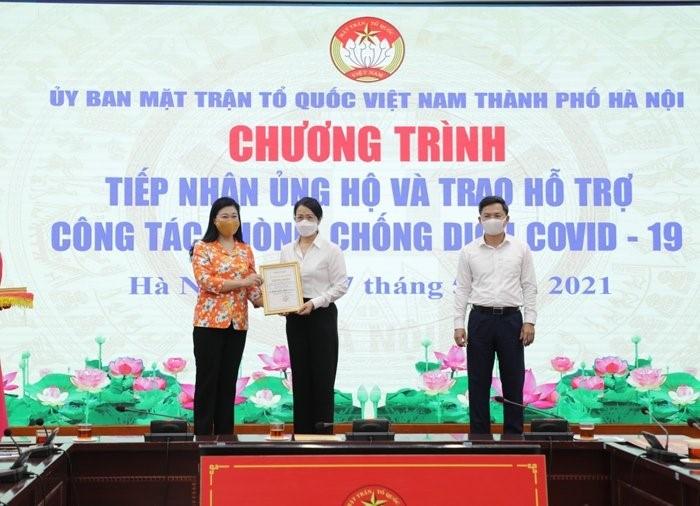 Hà Nội tiếp nhận hơn 11,3 tỷ đồng ủng hộ công tác phòng, chống dịch Covid-19