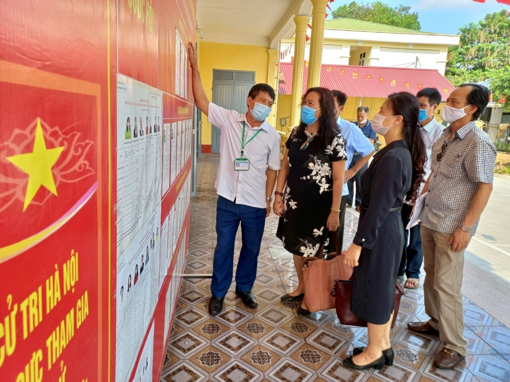Huyện Sóc Sơn tích cực tuyên truyền hướng tới ngày bầu cử