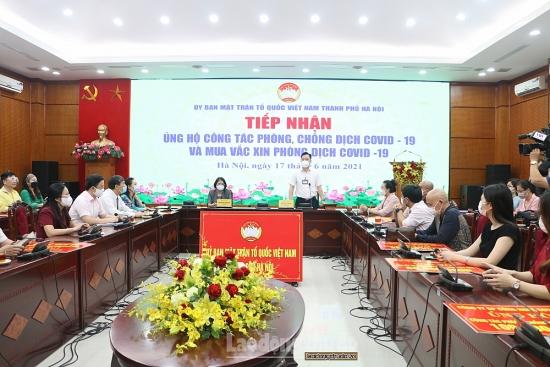 Hà Nội: Tiếp nhận hơn 2 tỷ đồng ủng hộ phòng, chống dịch Covid-19