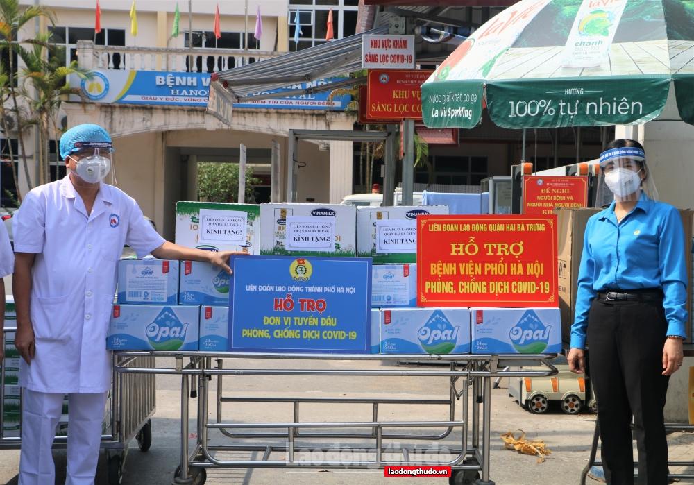 Công đoàn Thủ đô tiếp sức y, bác sĩ, nhân viên y tế tuyến đầu chống dịch