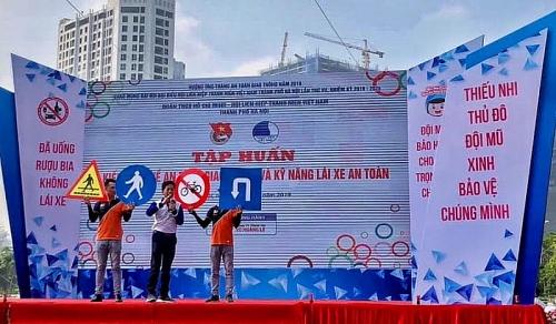 """Hơn 800 đoàn viên, thanh niên Thủ đô tham gia Ngày hội """"Thanh niên với văn hóa giao thông"""" năm 2019"""