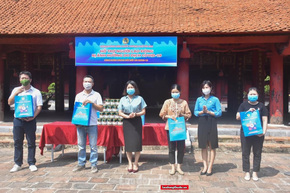 Công đoàn Viên chức Hà Nội: Trao hỗ trợ cho đoàn viên phải tạm nghỉ việc dài hạn do dịch Covid-19