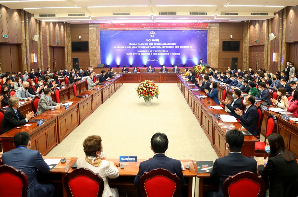 Hà Nội đối thoại, tháo gỡ khó khăn đối với doanh nghiệp có vốn đầu tư nước ngoài