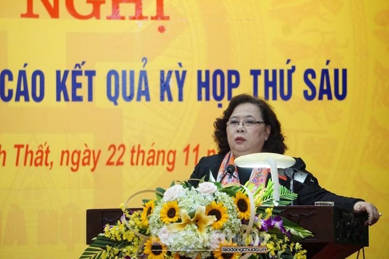 Đại biểu Quốc hội TP Hà Nội tiếp xúc cử tri huyện Thạch Thất