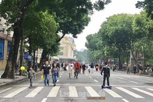 Dự kiến cấm đường quanh hồ Hoàn Kiếm: Phải phát triển phương tiện công cộng