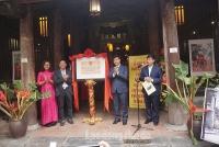 Đình Trương Thị đón nhận Bằng di tích Kiến trúc - Nghệ thuật của Thành phố