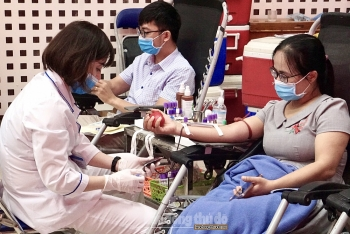 Hơn 600 công nhân, viên chức, lao động Thủ đô tham gia hiến máu tình nguyện