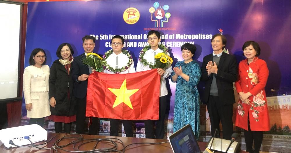 Học sinh Hà Nội giành 5 huy chương vàng tại Olympic Quốc tế các thành phố lớn