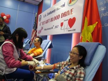 Đại sứ quán Hoa Kỳ tại Hà Nội tổ chức đợt hiến máu tự nguyện lần 6