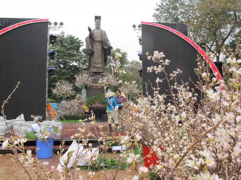 Cận cảnh áp giờ khai hội hoa anh đào tại Hà Nội 2017