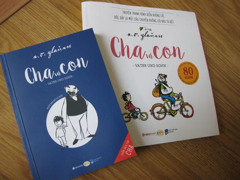 """Phiên bản Việt """"Cha và con"""" được ấn hành với 2 hình thức. Ảnh: L.Q.V"""