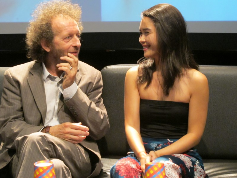 Đạo diễn Olivier Lorelle và nữ diễn viên Audrey Giacomini tại Hà Nội. Ảnh: L.Q.V