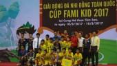 Sông Lam Nghệ An vô địch Giải bóng đá Nhi đồng toàn quốc 2017