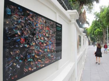Triển lãm ảnh trên tường Đại sứ quán Pháp tại Hà Nội