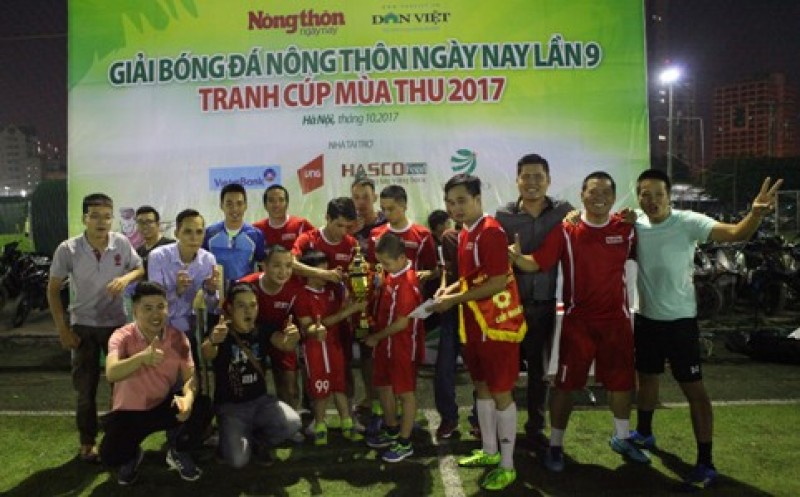 Báo Nhân Dân vô địch Giải bóng đá Báo Nông thôn Ngày nay lần thứ 9